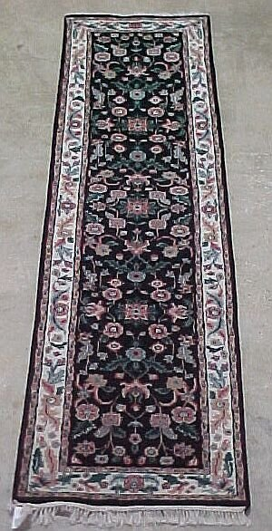 523: 2'7 x 10' Kashan Runner Condition Good