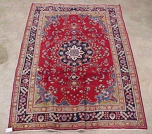100: 6'8 X 9'9 Antique Persian Mashad