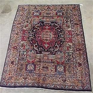 6'4 x 9' Antique Persian Tabriz Conditio