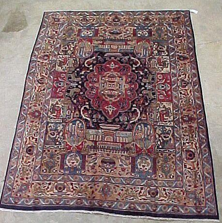 101: 6'4 x 9' Antique Persian Tabriz Conditio
