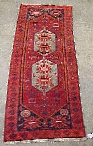 102: 3'8 x 10' Antique Persian Serapy Conditi