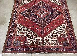 7'6 x 11'3 Antique Persian Heriz Aztec L