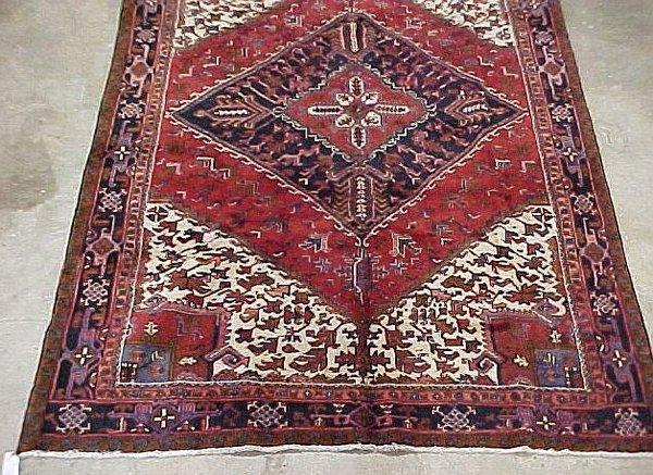 105: 7'6 x 11'3 Antique Persian Heriz Aztec L
