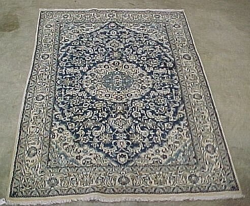 117: 6'5 x 9'5 Persian Nain Beautiful White w