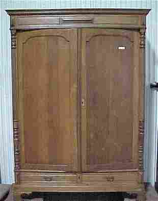 Oak Wardrobe 2door/2drawer Cond: Good M