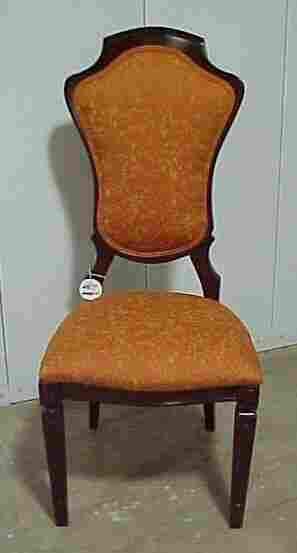 4 Mahogany Upholstered Chairs Cond: Exc