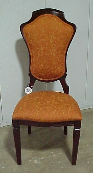 2213: 4 Mahogany Upholstered Chairs Cond: Exc