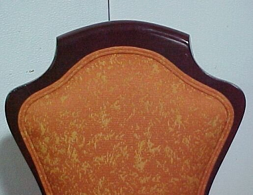 2213: 4 Mahogany Upholstered Chairs Cond: Exc - 2