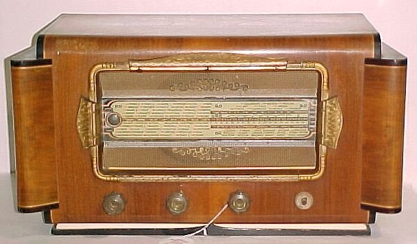 "2216: French Radio. Measure: 14""H, 26""W, 14""D"