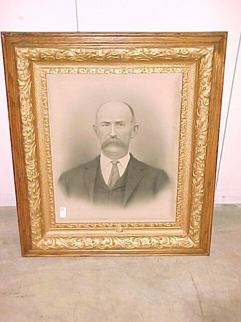 2223: Oak picture frames Old Man   Cond Good