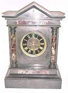 2264: Victorian Double Column Marble Clock Co