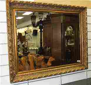 GOLD GILDED BEVELED WALL MIRROR