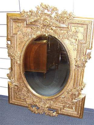 GOLD GILDED FRENCH STYLE MIRROR