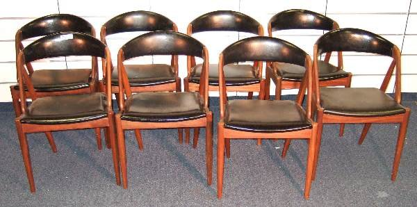 2: SET OF 8 VINTAGE DANISH MODERN TEAK CHAIRS