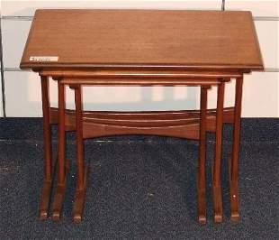 DANISH MODERN TEAK STACK TABLES