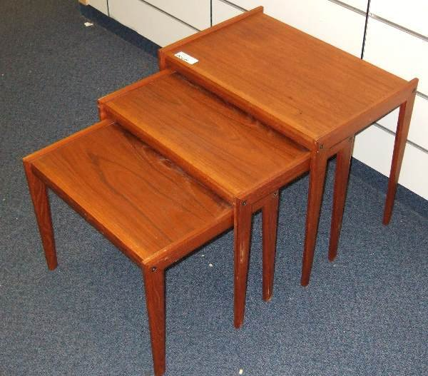 10: VINTAGE CLASSIC DANISH MODERN TEAK STACK TABLES