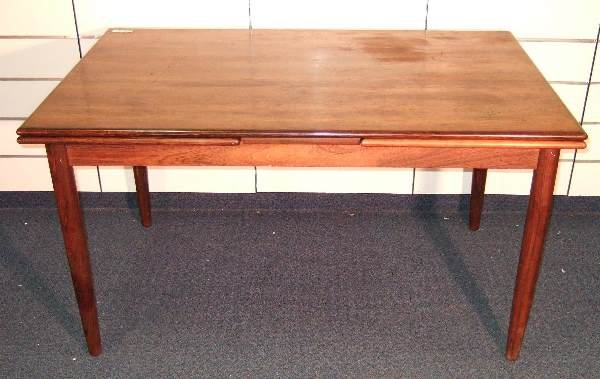 12: DANISH MODERN ROSEWOOD DINING TABLE