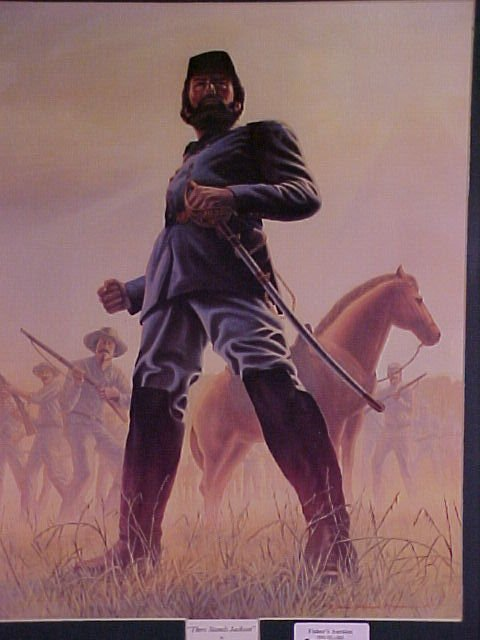 """1304: CIVIL WAR PRINT """"THERE STANDS JACKSON"""""""