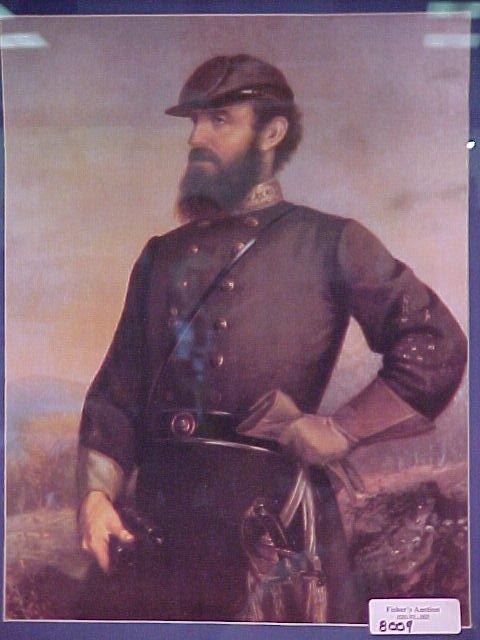 1305: CIVIL WAR PRINT FROM 1978 OF STONEWALL JACKSON