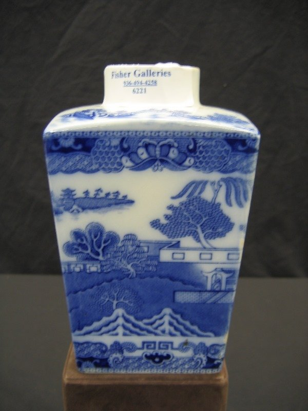 1201: BLUE WILLOW TEA CANISTER