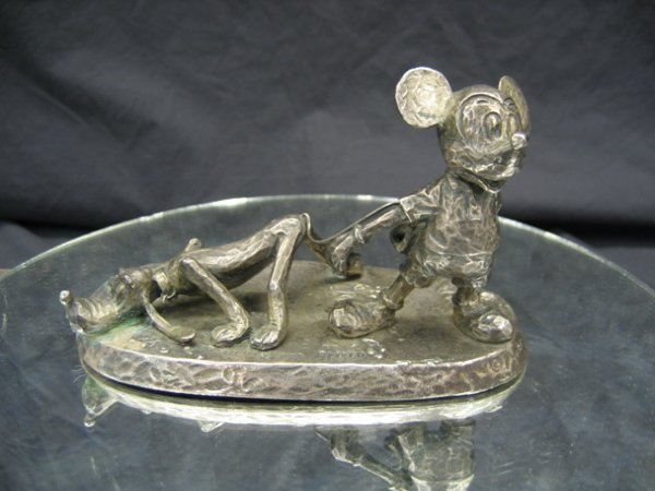 1211: STERLING SILVER MICKEY MOUSE & PLUTO