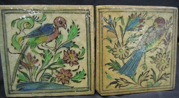 1216: FAIENCE TILES--PERSIAN--EARLY