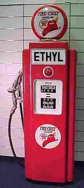 TEXACO FIRE CHIEF GAS PUMP CABINET