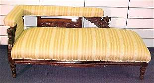 MAHOGANY RJ HORNER STYLE GRIFFIN FAINTING COUCH