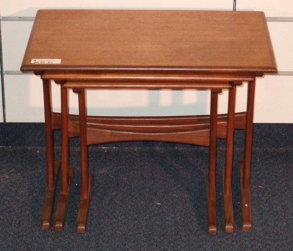 19: DANISH MODERN TEAK STACK TABLES
