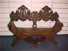 118: FINE 3 PC. CARVED ITALIAN ENTRY WAY SET.