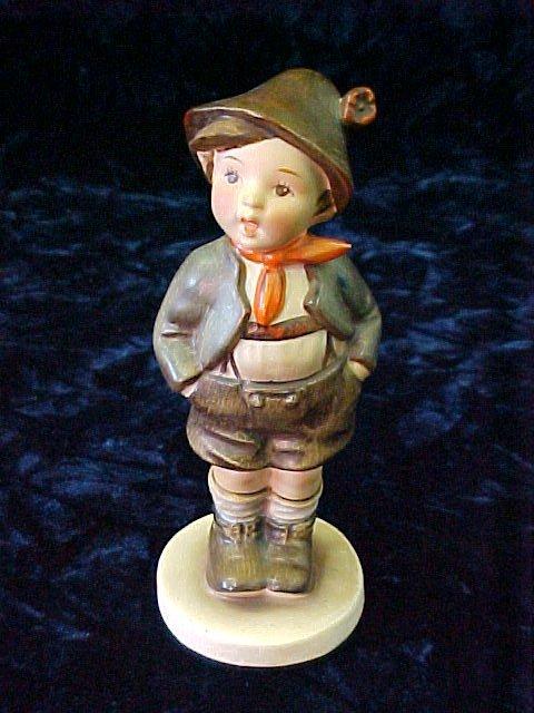 1800: HUMMEL-FIGURINE-GERMAN BOY BLUE MARK