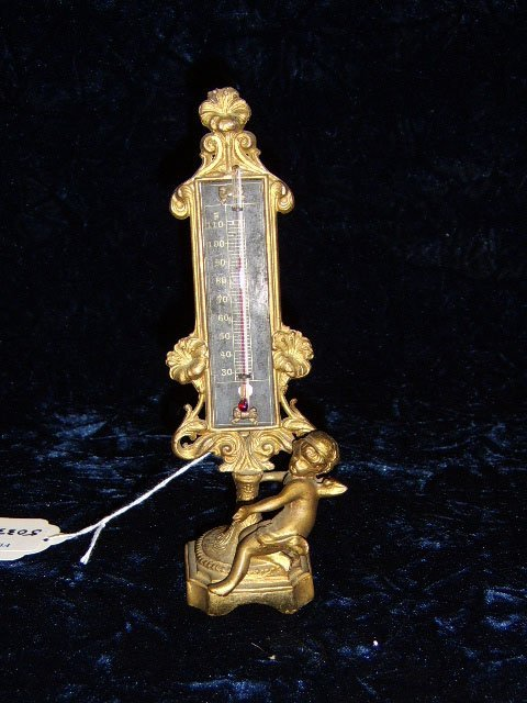 1802: VICTORIAN STYLE FIGURAL THERMOMETER