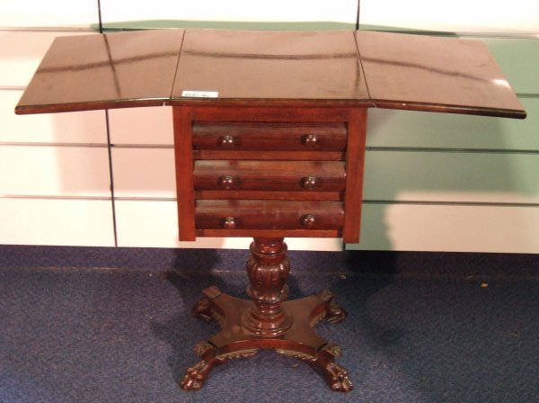 1814: ANTIQUE EMPIRE 3 DRAWER STAND