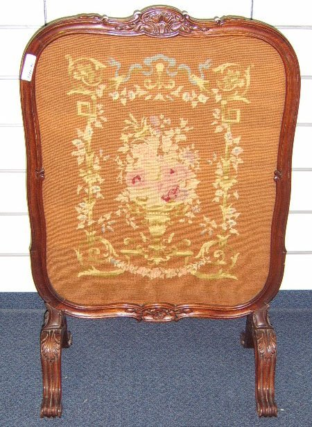 1815: FRENCH LOUIS XV STYLE TAPESTRY FIRESCREEN