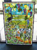 1839: TIFFANY STYLE STAIN GLASS PANNEL