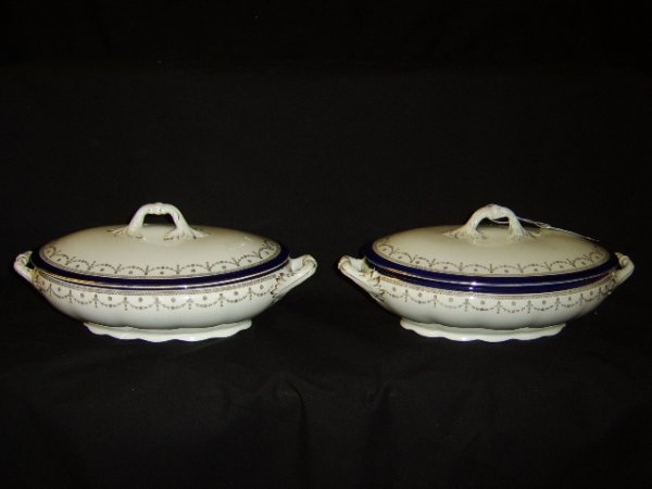 1102: ENGLISH COVERED OVAL TUREENS
