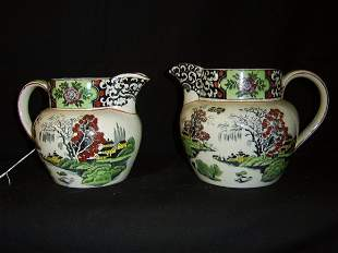 """DERBYSHIRE """"MING"""" WILLOW GRADED JUGS-T.G.GREEN CO"""