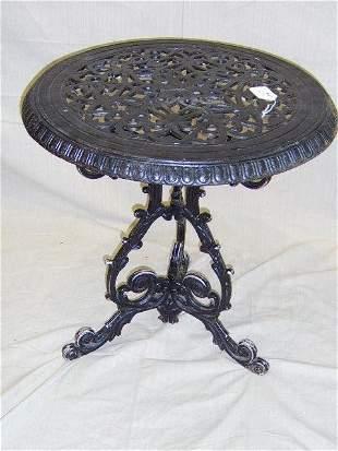 VICTORIAN CAST IRON ENGLISH PUB TABLE