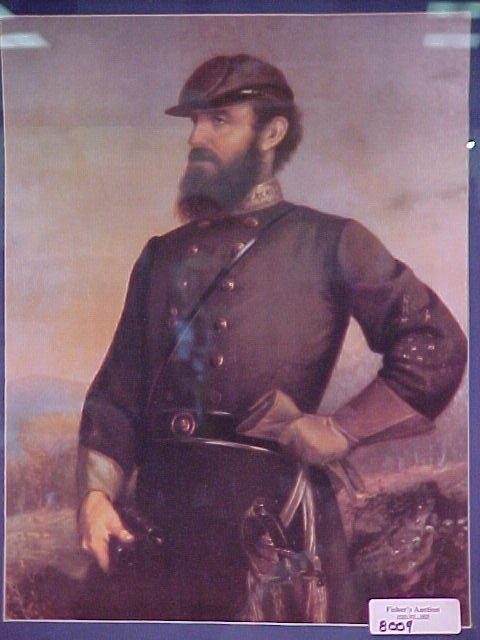 7: CIVIL WAR PRINT FROM 1978 OF STONEWALL JACKSON