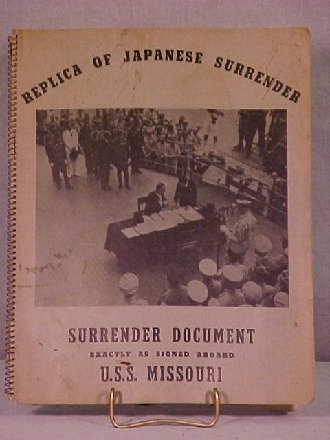 12: REPLICA OF THE JAPANESE SURRENDER DOCUMENTS