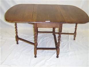 BARLEY TWIST OAK DROP LEAF TABLE