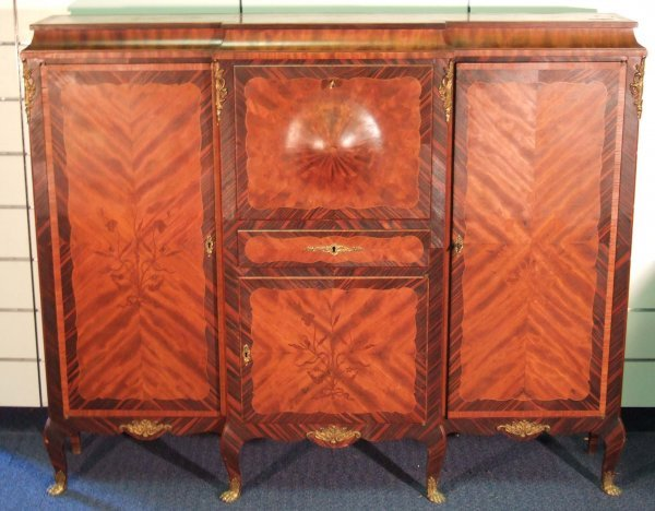 184: ANTIQUE FRENCH CONSOLE DESK