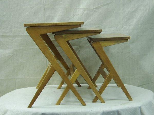 20: SET OF DANISH MODERN NESTING TABLES