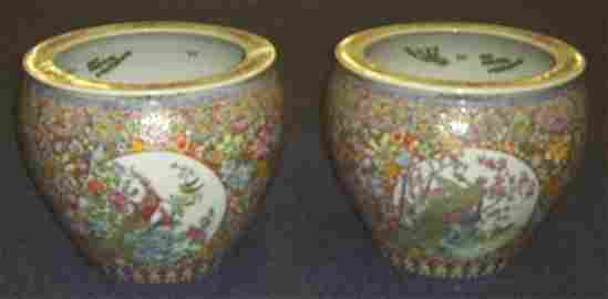 99: CHINESE-FAMILLE ROSE STYLE LARGE FISH BOWLS