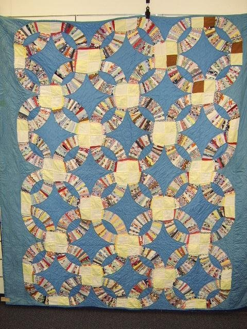 400: QUILT-FEED SACK WEDDING RING 1950'S