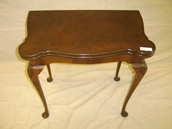 420: GEORGE II STYLE WALNUT GAME TABLE 19TH CENTURY