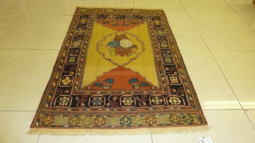 SIRJAN PERSIAN CARPET FIGURAL MEDALLION DESIGN WR361-D
