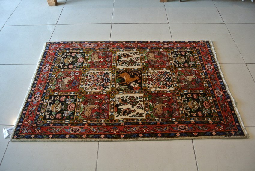Chaharmahal baktiariy Persian rug handmade wool Isfahan