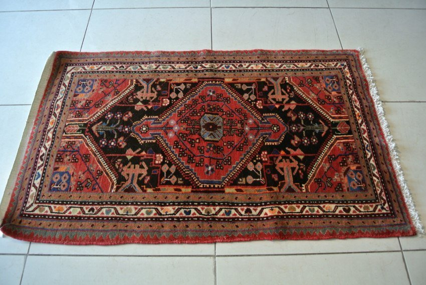 Malayer rug hand made virgin wool