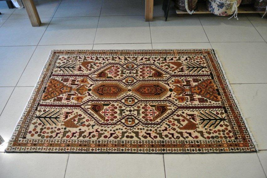 """Afshar rug tribal hand made tree of life """"Morghi rug"""""""